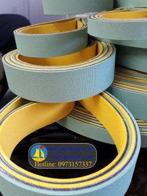 Dây đai dẹt xanh vàng nhạt( dai det vàng xanh nhạt, dây curoa vàng xanh, xanh vàng…), 2mm, 3mm,4mm…