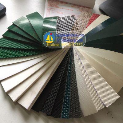 Băng tải PVC,PU đủ loại ( xanh, đen, trắng, ghi, nâu,…băng pvc, pu chống tĩnh điện, chịu nhiệt..)