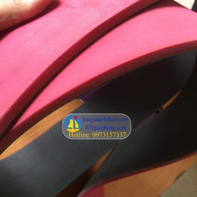 Dây đai dẹt ép cao su đỏ, ( dán cao su vào dây curoa dai det…)