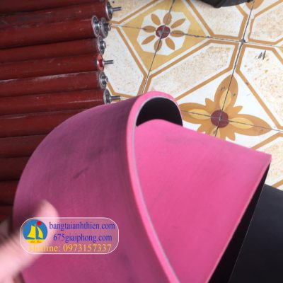 dây curoa dai dẹt dán cao su đỏ (2)