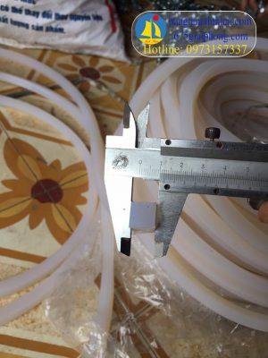 Gioăng silicon 12×12 vuông chịu nhiệt màu trắng dài 100 mét