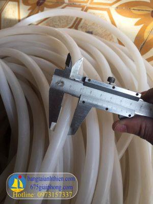 Ống silicone 10×14 màu trắng trong chịu nhiệt cao